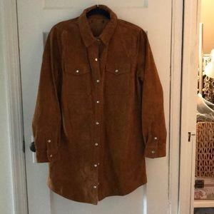 Tops - Genuine suede long shirt size medium